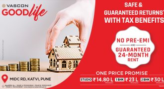 1 BHK For Investments in Pune India